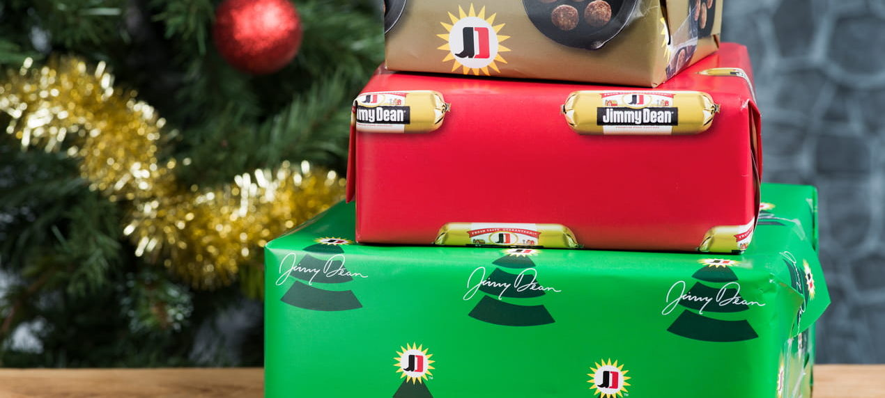 Jimmy Dean Just Created Sausage-Scented Christmas Wrapping Paper!
