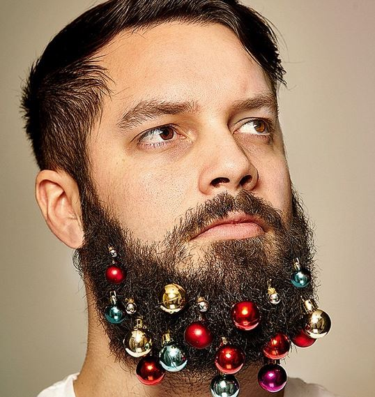 The Hot New Trend Is..... Decorating Your Beard with Tiny Christmas Lights?